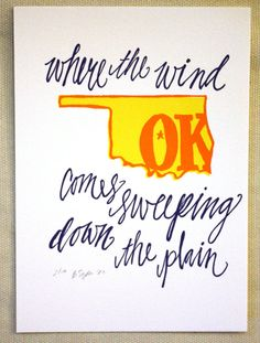 We love that it uses a quote from Rodgers and Hammerstein's OKLAHOMA!