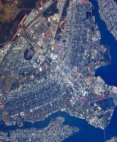 Foto de Brasília DF (Brasil) feita pelo astronauta russo Sergey Ryazanskyi
