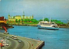 Det stolte værft, Kronborg, havnekran, LB-færge, esso-tank og gamle køretøjer