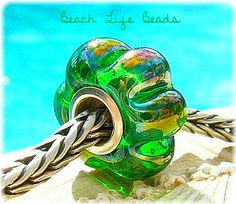 METALLIC BEACH BLOSSOM Fully Lined Sterling by beachlifebeads, $30.00