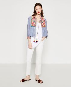 Image 1 of SHORT EMBROIDERED JACKET. from Zara
