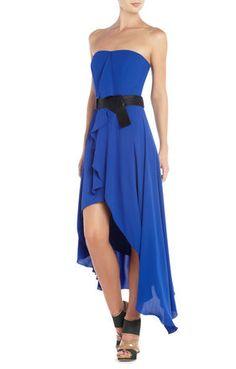Serafina Ruffled Evening Dress | BCBG