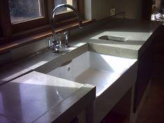 Polished concrete worktops - Paul Davies Design