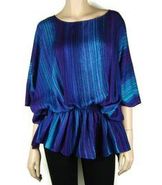 0a2304330ba FESTIVAL – Tie Dye Striped Slouch Tunic Poncho Sleeve Top 12 – 20 Au Tie Dye