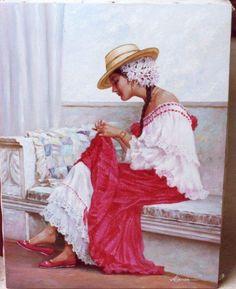 Pollera, por Luis Córdoba Pintor Panameño