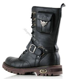 EMS/DHL,Men's Mid-Calf Boots,Cool Outdoor Shoes,Punk Side Zipper Winter Roman Fashion Party Leather Boot,Size 39-45 $52.99