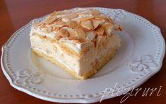 """Prajitura Verdens Beste, adica """"cea mai buna din lume"""", numita si Kvæfjordkake, a fost votata in anul 2002 cea mai buna prajitura de catre norvegieni, devenind prajitura nationala a Nor… Romanian Food, Romanian Recipes, Food Cakes, Vanilla Cake, Delicious Desserts, Cake Recipes, Sweet Treats, Food And Drink, Cooking Recipes"""