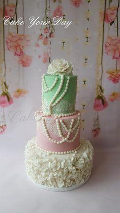 Vintage Wedding Cake. - Cake by Cake Your Day (Susana van Welbergen)
