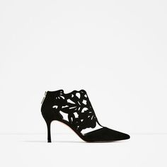 WRAPAROUND LEATHER HIGH HEEL SHOES from Zara