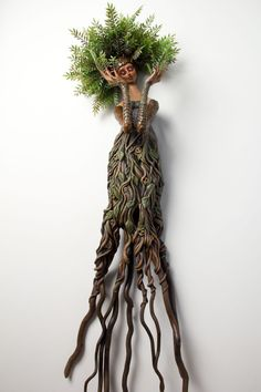 Dryad, Mixed Media Wall Sculpture, by Christine K. Harris