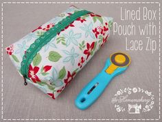 Homemakery How To: Lined Box Pouch with Lace Zipper - The Homemakery Blog
