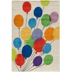 """Alternate rug for the guest room, I may have a great love for bright colors. 5'x7'6"""" - $269.10"""