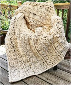 All of the Afghans could be made form the classic yarn, or like this – Dusty off-white, almost gray. Gorgeous and very effective. Enjoy Full article with the pattern is below. Join our Facebook Group Celtic Crochet Afghan – the free pattern is here. If you want to download this pattern in … #CrochetAfghan