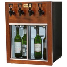 Learn more about our WineKeeper Napa 4 Bottle (Mahogany) Only at IWA Wine Accessories! Sliding Glass Door, Sliding Doors, Malbec Wine, Wine Dispenser, Wine By The Glass, Wood Facade, White Laminate, Brass Faucet, Wine Cabinets