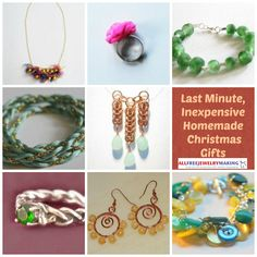 37 Last-Minute, Inexpensive Christmas Gifts to Make By: Maggie Kmiecik, Editor of AllFreeJewelryMaking We've come up with 37 Last-Minute, Inexpensive Christmas Gifts to Make this year for lots of people on your list! With this collection of free jewelry projects and beading patterns..Whether your friends love big and bold pieces or they're consistently and elegantly understated, we've picked out an array of homemade Christmas gift ideas ...