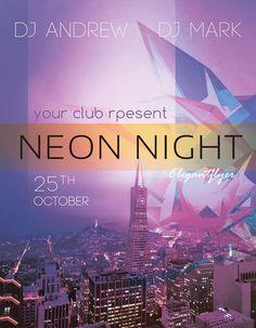 Neon Night Free PSD Flyer Template - http://freepsdflyer.com/neon-night-free-psd-flyer-template/ Enjoy downloading the Neon Night Free PSD Flyer Template created by Elegantflyer!   #Club, #Dj, #EDM, #Electro, #Event, #Fall, #Party, #Purple, #Techno, #Urban