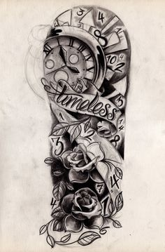 clock-tattoos-ideas.jpg (724×1102)