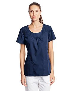 4e30252ce54 Cherokee Womens Workwear Scrubs Round Neck Top Navy XLarge *** Check this  awesome product