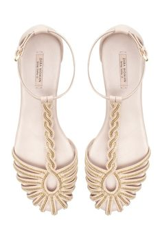 Chain beaded sandals