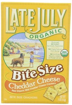 Late July Organic Bite Size Cheddar Cheese Crackers! So good! Alternative to Goldfish/Cheez-Its!