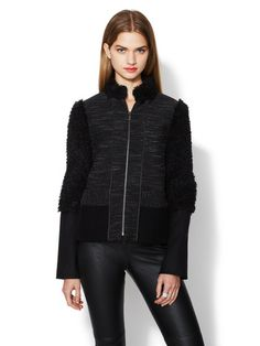 Yves Novelty Jacket with Faux Shearling by BCBGMAXAZRIA at Gilt