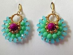 Baby Blue Glass Beads and Jade Drop Earrings  from Pandahall.com: