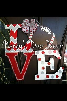 Hey, I found this really awesome Etsy listing at https://www.etsy.com/listing/196022350/love-football-wood-door-hanger-can-be