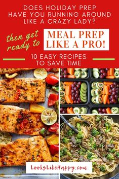 If you are too busy for weeknight dinners then it's time to start meal prepping! This will save you soooo much time and MONEY! If the holiday season has you scrambling for time, and you've had enough pizza and drive thru fast food, meal prep will save the Meal Prep Plans, Easy Meal Prep, Easy Meals, A Food, Food And Drink, Food Prep, Yummy Food, Delicious Recipes, Healthy Recipes