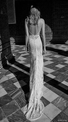 alon livne 2017 bridal sleeveless spagetti strap sweetheart neckline full embellishment elegant glamorous sheath wedding dress low back sweep train (kate) bv.  Dying over all of these!!