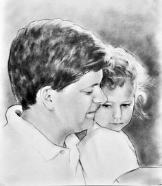 Family portrait drawing, Dad gift, husband birthday gift, custom portrait painting from photo Best Portraits, Portraits From Photos, Family Portraits, Family Portrait Drawing, Portrait Art, Birthday Gifts For Husband, Gifts For Dad, Charcoal Portraits, In Memory Of Dad