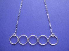 Cinco Circulos Necklace - Metal Sugar Jewelry