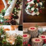 Útulné vánoční slavnostní svatební Nápady na zimu Brides