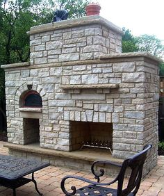 Outdoor fireplace and pizza oven combination | Outdoor fires and ...
