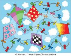 sample of a few kite designs --can use dot painters, stickers, tissue or paper pieces etc.