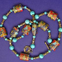 gorgeous paper beads
