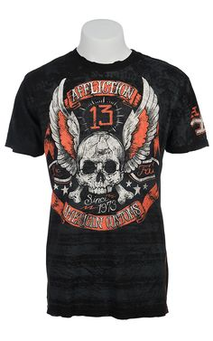 Affliction® Men's Black Alhambra Reversible Short Sleeve Tee