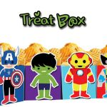 Avengers Kids Popcorn Treat Box- INSTANT DOWNLOAD