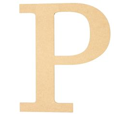 "Letter P Size: 10"" Material: MDF (wood product) Color: Unfinished, natural. Smooth surface ready to be painted or decorated, can be covered in fabric or paper and decopaged. Makes"