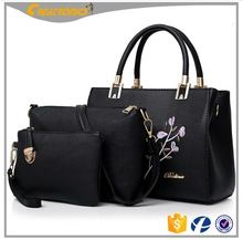 425d0566d3c6 CR Over 11 years experience hot sale smooth pattern ladies large handbag  long strap bag set leather purse and wallet set