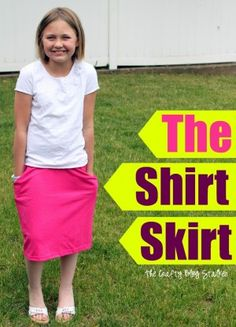 Make a Skirt out of a Tshirt!  Click over to the blog for the tutorial