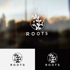 Create a unique, visually appealing type manipulation of the word Roots by Jani Tavanxhi