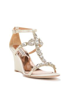 Melissa Strappy Wedge Evening Shoe $225   Come In Gold, Silver And Ivory