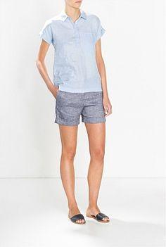 Yarn Dyed Clean Short Summer 2015, Bermuda Shorts, Women Wear, Clothes, Fashion, Outfits, Moda, Clothing, La Mode