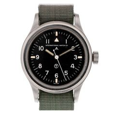 """IWC """"Mark XI"""" British Military Wristwatch circa 1951   From a unique collection of vintage wrist watches at http://www.1stdibs.com/jewelry/watches/wrist-watches/"""