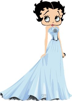 Betty Boop Pictures Archive: Betty Boop long gown animated gifs