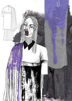 2015 Westminster Fashion illustration – Giryung Kim: