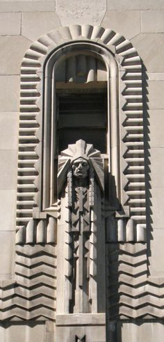 Detail of the Penobscot building.  Detroit, Michigan, United States.  Built 1928.