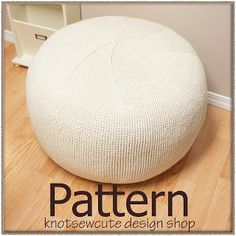 knot•sew•cute design shop: new crochet pattern - pinwheel pouf by tara schreyer.