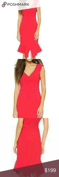 56c33ed264 Brand new Black Halo Kaminski sheath dress 10 Red Kaminski sheath dress  with a split trumpet