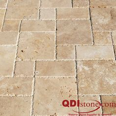 This is an example of travertine pavers with a brushed and chiseled edge.  You can see how the chiseled edge gives it more of  a rugged feel.  The chiseled edge has been really popular in the Houston area with tile and it now taking off with the travertine pavers.